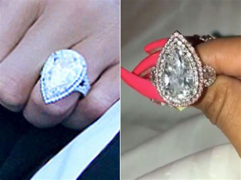 Ring Cardi and cardi b almost identical engagement