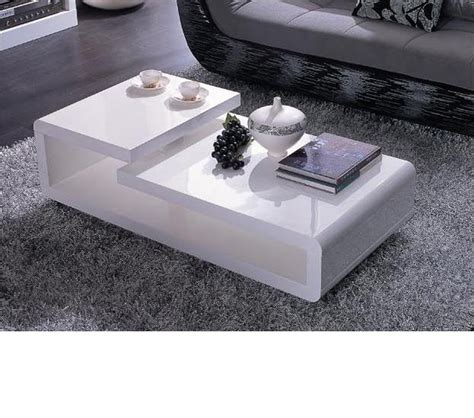 Modern Lacquer Coffee Table Dreamfurniture 5011c Modern White Lacquer Coffee Table