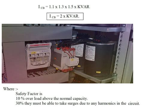 capacitor breaker sizing how to calculate circuit breaker of capacitor bank elec eng world
