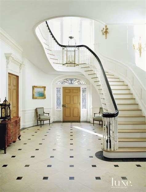 Georgian Stairs Design Classic Georgian Foyer And Staircase Luxe Interiors Design Magazine Staircases Foyers