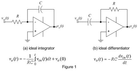 circuit diagram of integrator and differentiator using op lab 10
