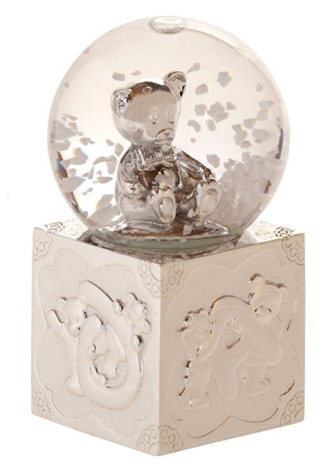 children s nursery christening gift of silver plated snow