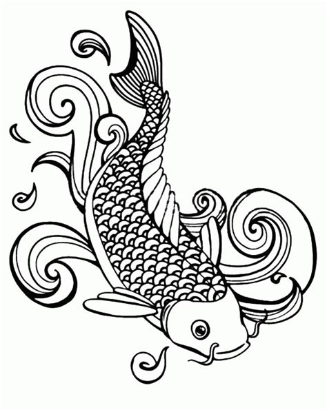 Galerry coloring page of koi fish