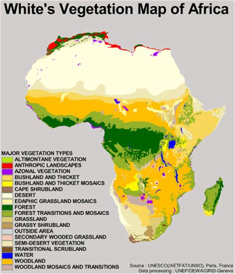 africa map vegetation zones index of biosphere data terra botany unesco white