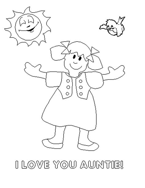 birthday coloring pages for aunts happy birthday aunt coloring pages