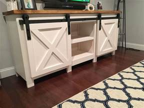 barn door tv stand plans build a tv stand or media console with these free plans