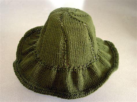 knit hat knit summer sun hat klc creations