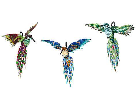 beaded bird pattern beaded hummingbird handmade in guatemala shiny beaded