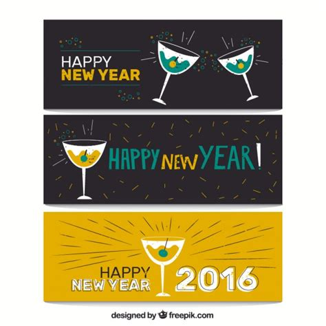 free vector new year banner banners of new year 2016 vector free
