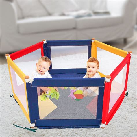 Mat For Playpen by Pokano Hexagonal Fabric Baby Playpen Mat Colour Tikk