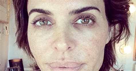 lisa rinna make up lisa rinna goes without makeup for wakeupcall caign