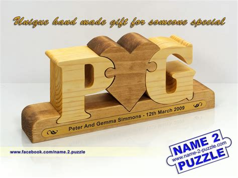 wedding gifts name 2 puzzle