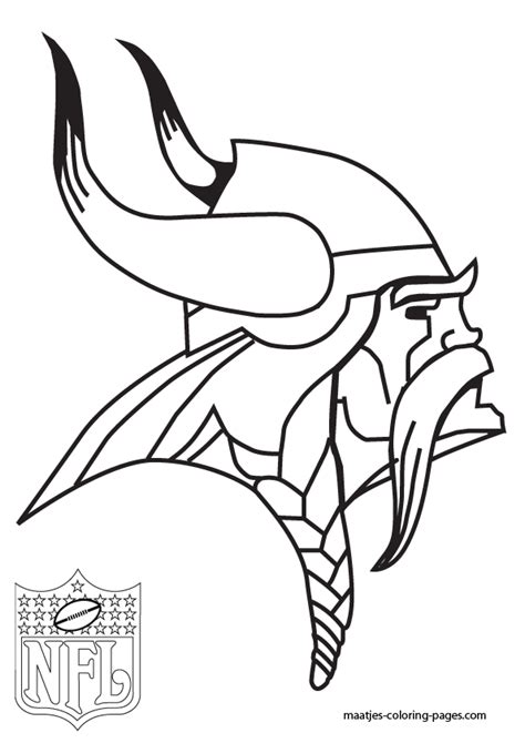 nfl vikings coloring pages minnesota vikings coloring pages