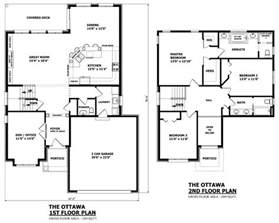 Elevation And Floor Plan Of A House by Canadian Home Designs Custom House Plans Stock House