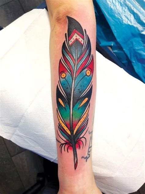 colorful feather tattoos 1000 ideas about color feather tattoos on