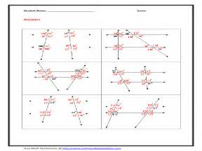 pictures parallel lines and transversals worksheets