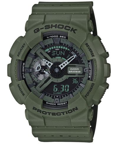 G Shock Black List Green by G Shock S Analog Digital Green Black Dual Layer Resin