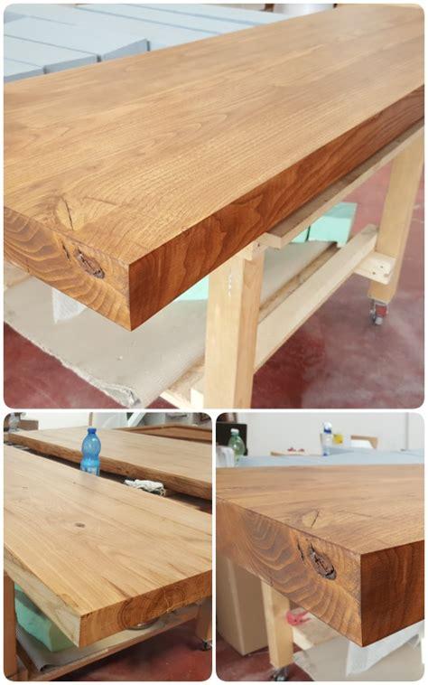 piani in legno per cucine top cucina piano snack penisola per colazione 150x50x6 in