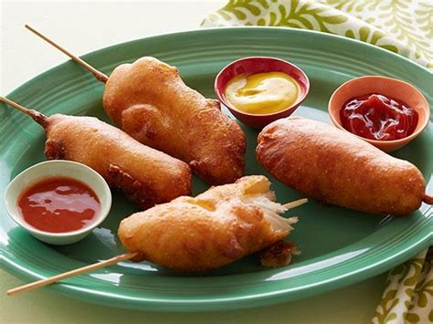 chicken dogs fried chicken corn dogs recipe food network kitchen food network