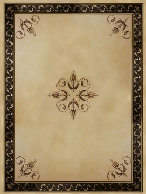 Ceiling Border Stencils by Palazzo Scroll Ceiling Stencil