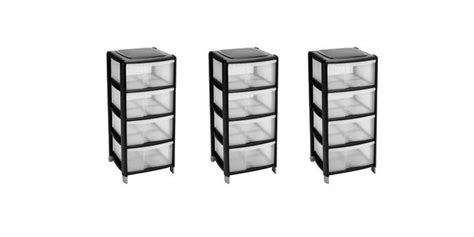 bhs bathroom storage 4 drawer plastic storage unit 163 10 wilkinsons