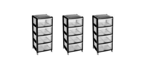 Wilkinsons Plastic Storage Drawers by 4 Drawer Plastic Storage Unit 163 10 Wilkinsons