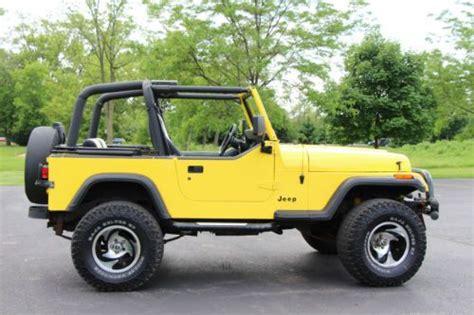 find  jeep wrangler sahara  lifted custom yellow