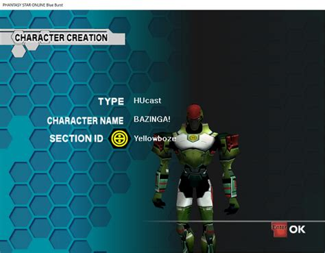 pso section id creating a character ephinea psobb
