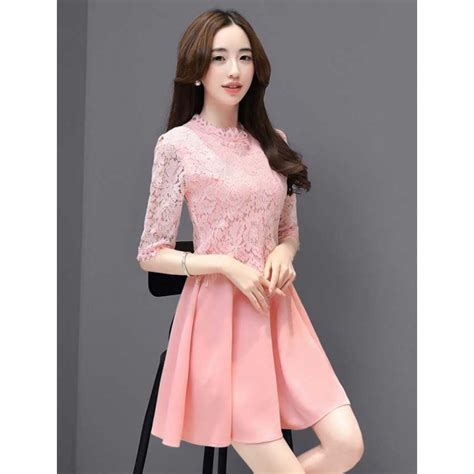 Dress Brukat Korean dress brukat korea d4150 moro fashion