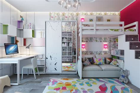 Colorful Bunk Beds Bright And Colorful Room Designs With Whimsical Artistic Features