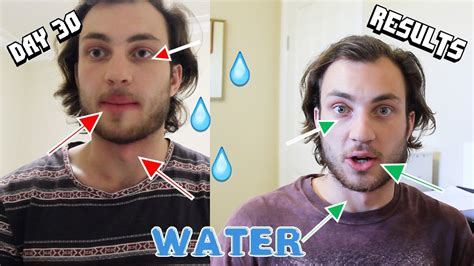 30 day water challenge before and after 30 day challenge 3 litres a day day 30 results