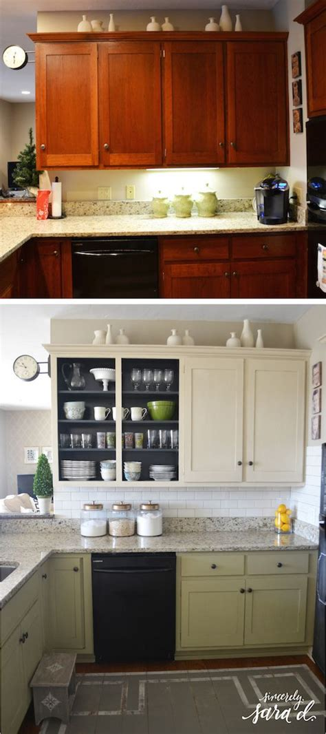 inexpensive kitchen cabinet makeovers kitchen mini makeover subway tile kitchen redo kitchen