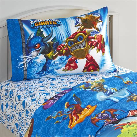 skylanders bedding skylanders giants boy s comforter for a giant size sleep