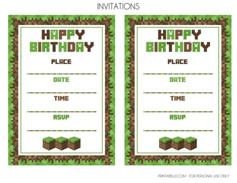 minecraft invitation template free free minecraft printables catch my