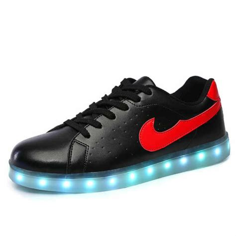 Led Shoes Flah M led shoes black nikelied usb charging sneakers