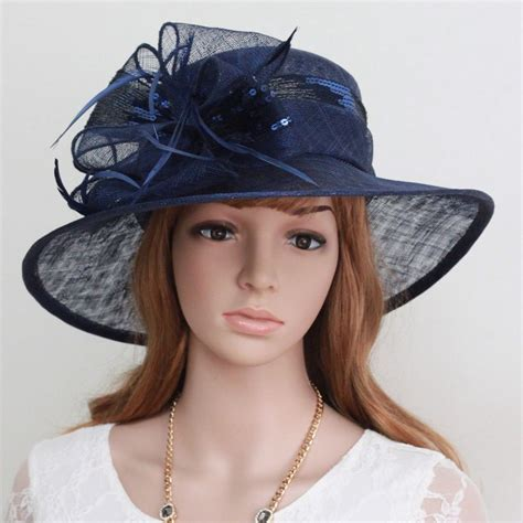 blue church wedding dress hat buy church hat