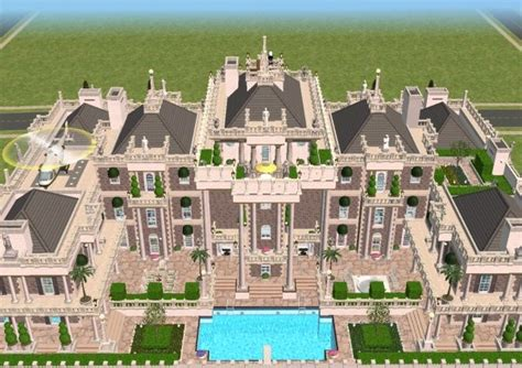 House Plans With 3 Car Garage by Mod The Sims The Millionaire S Palace