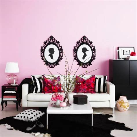 pink and black living room contemporary living room