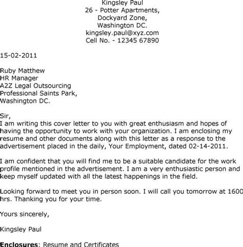 sle cover letters for employment your letter needs to