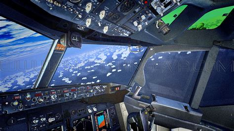 beautiful vortex from 737 800 landing in cat ii cockpit wallpapers