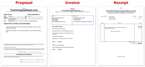 painting invoice template business documents templates business document templates