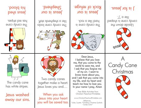 religious themes in stories candy cane mini book christian preschool printables