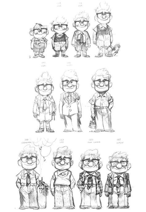 layout artist pixar carl fredricksen s age chart from pixar animation studios