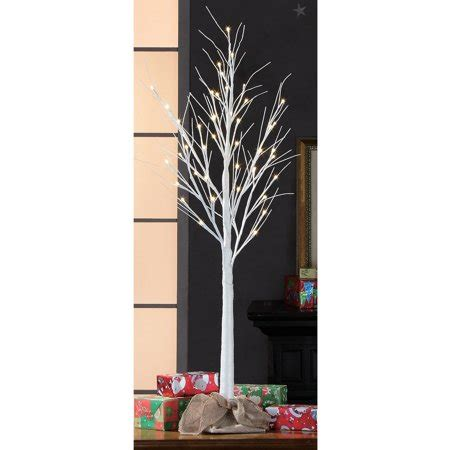 stick christmas trees with lights time pre lit 4 white glitter stick artificial tree warm white lights