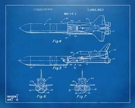 1975 space vehicle patent blueprint digital art by nikki
