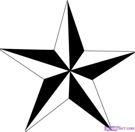 draw nautical star step step tattoos pop culture free drawing tutorial