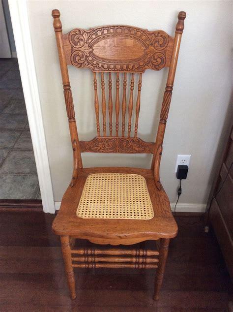Antique Oak Larkin #1 Pressed Back Chairs Circa 1900 Cane