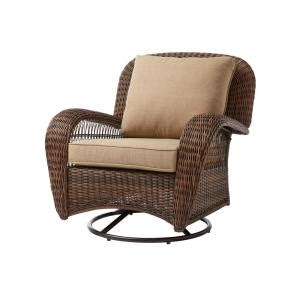 Hton Bay Swivel Patio Chairs Wicker by Hton Bay Beacon Park Wicker Outdoor Swivel Lounge Chair