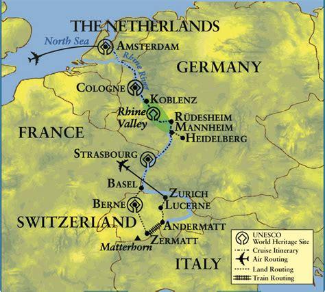 map netherlands germany switzerland great journey through europe the netherlands germany