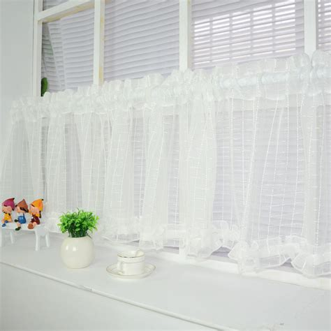 small voile curtains new white short curtain 169 kitchen kitchen sheer curtains